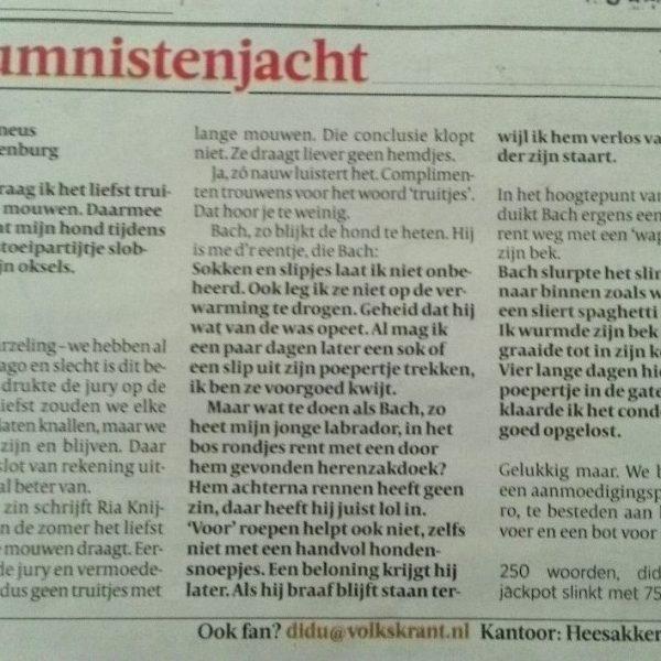 Volkskrant column